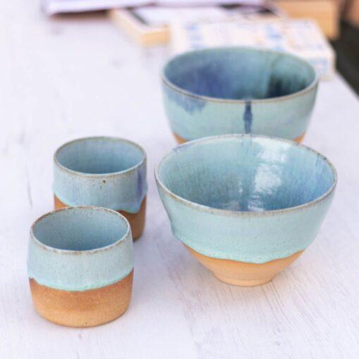 vaso y bowl