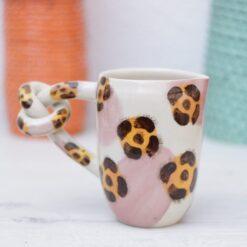 SET desayuno leopard breakfast set leopard milk jar bowl mug taza jarra tazón